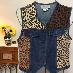 Stonebridge Jean vest leapord spotted size L